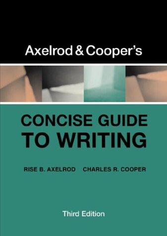 Download Axelrod & Cooper's concise guide to writing