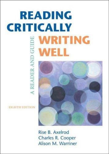 Download Reading Critically, Writing Well