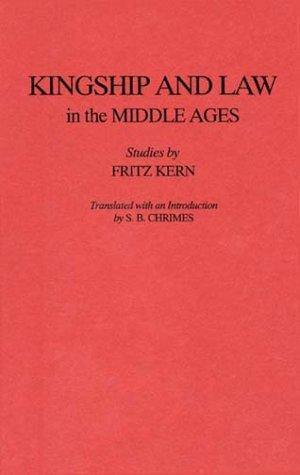 Download Kingship and law in the Middle Ages