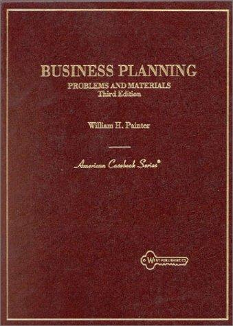Problems and materials in business planning