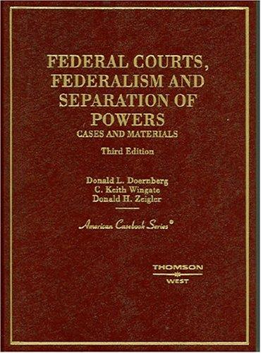 Download Federal courts, federalism, and separation of powers