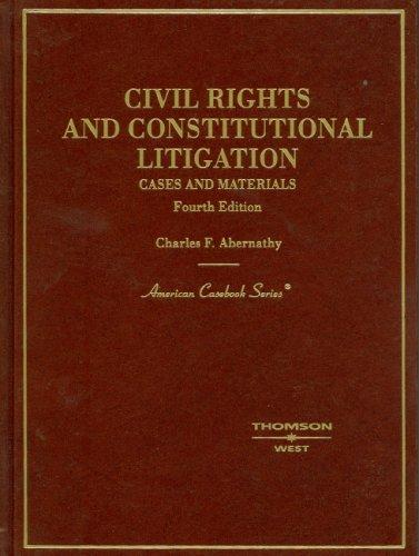 Download Civil Rights And Constitutional Litigation