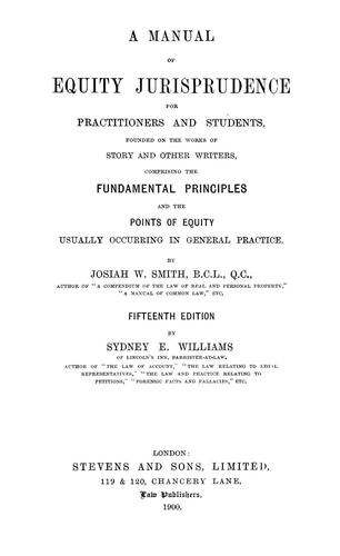 Download A manual of equity jurisprudence