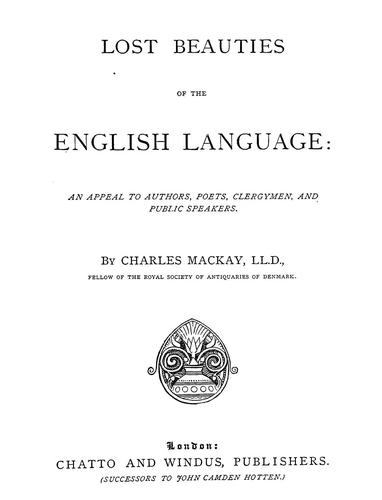 Download The lost beauties of the English language