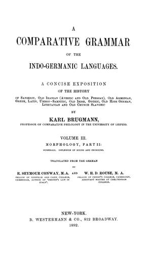 Download Elements of the comparative grammar of the Indo-Germanic languages.