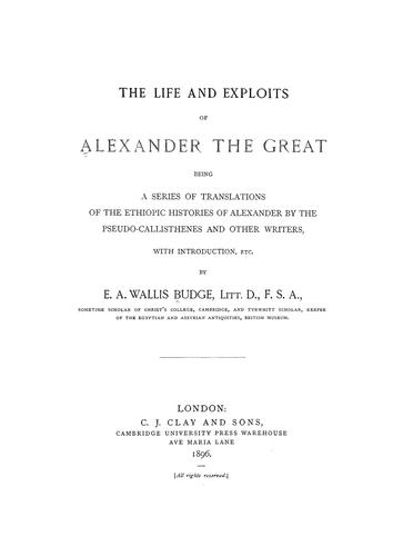 Download The life and exploits of Alexander the Great