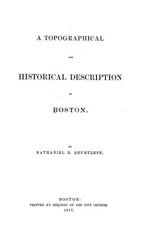 Download A topographical and historical description of Boston