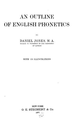 An outline of English phonetics …