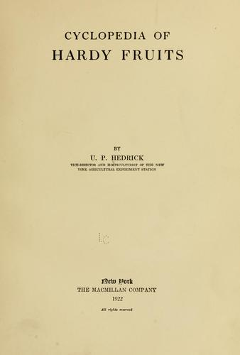 Cyclopedia of hardy fruits