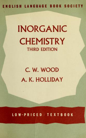 Cover of: Inorganic chemistry | Cyril Warcup Wood