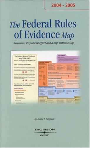 The Evidence Map 2004-2005 (Map) by David L. Faigman