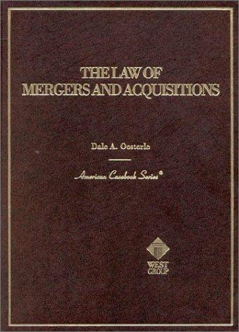 The law of mergers and acquisitions