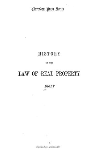 An introduction to the history of the law of real property, with original authorities by Kenelm Henry Digby