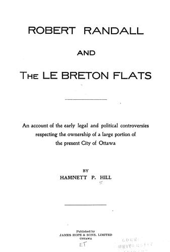 Robert Randall and the Le Breton flats by Hamnett P. Hill