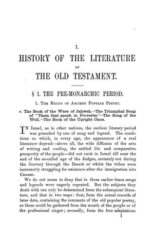 An outline of the history of the literature of the Old Testament by E. Kautzsch