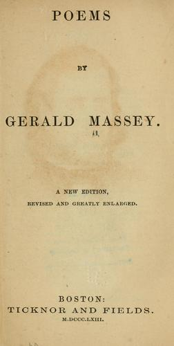 Poems by Gerald Massey by Gerald Massey