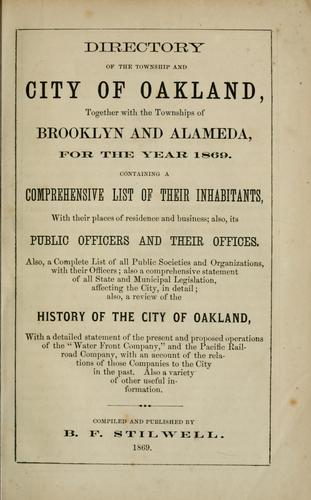 Directory of the township and city of Oakland by B. F. Stilwell