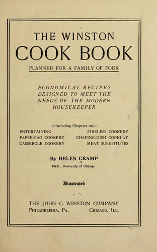 The Winston cook book, planned for a family of four by Helen Cramp
